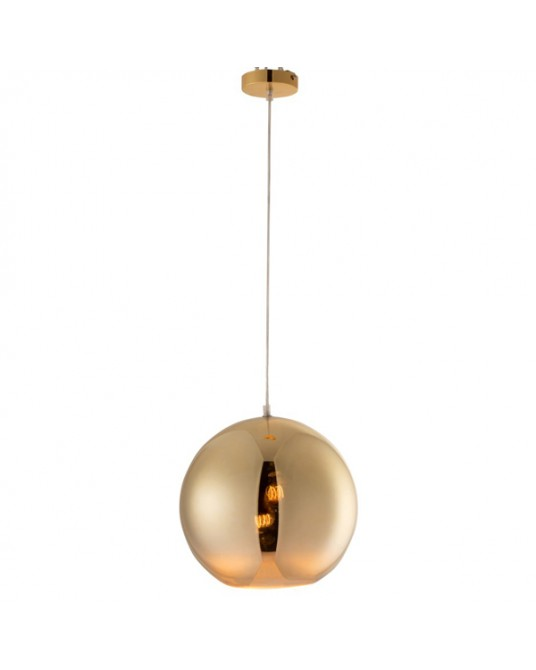 Gold L Ball Ceiling Lamp