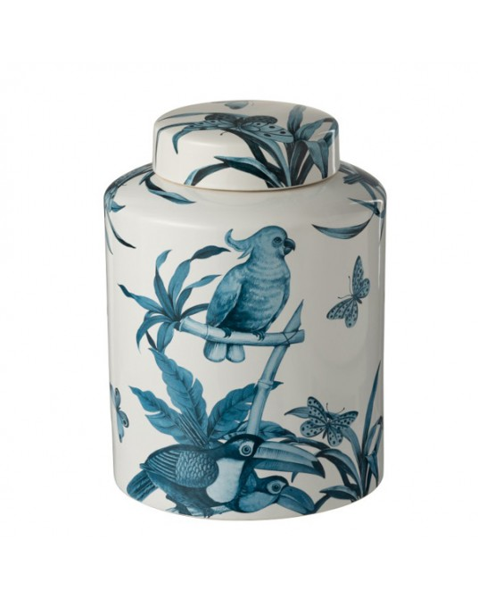 Vase Blue Tropical