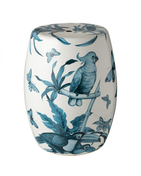 Ceramic Stool Tropical Blue