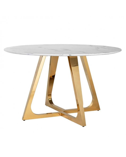 Round Dining Table GoldLux