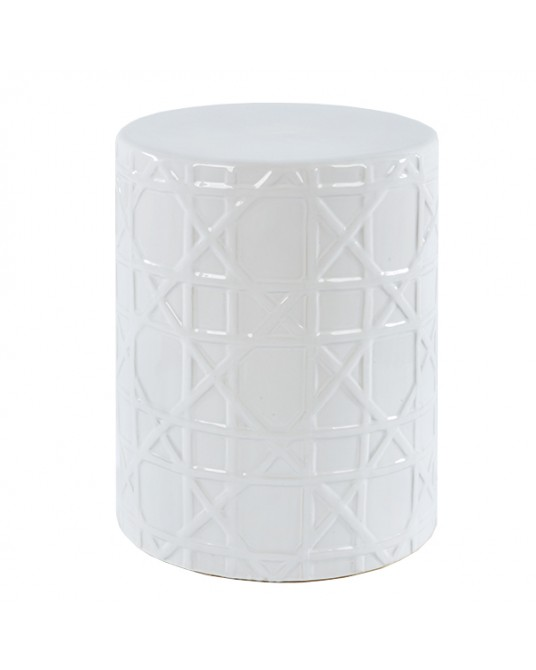 Ceramic Stool Mekong White