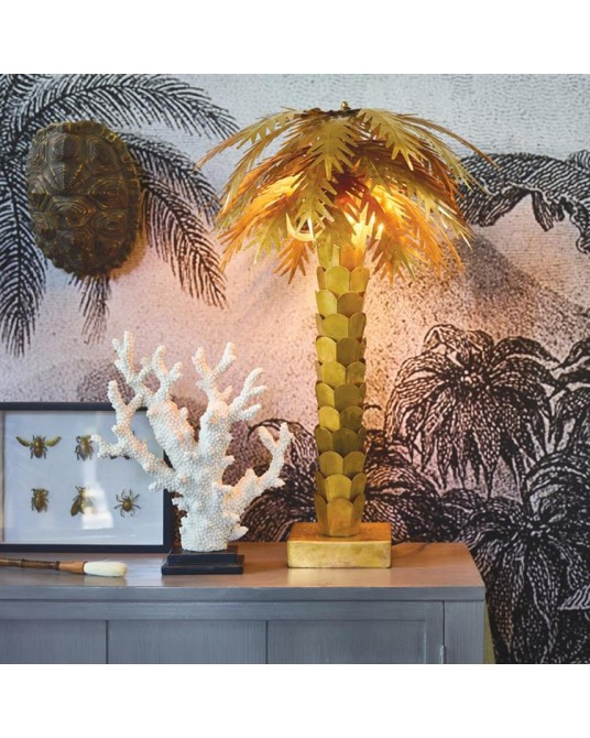 Gold Palm Lamp