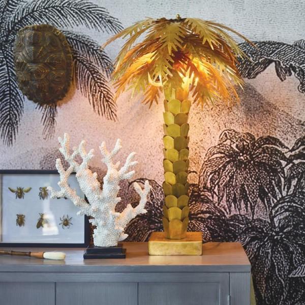 Candeeiro Gold Palm
