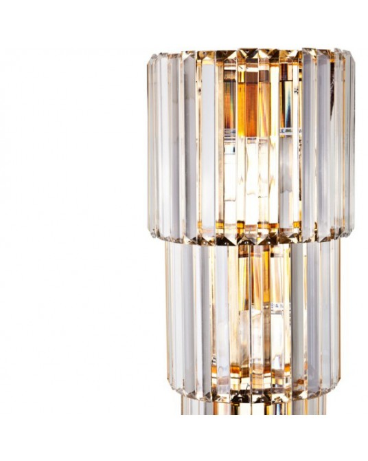 Aplique Parede Cristal Gold