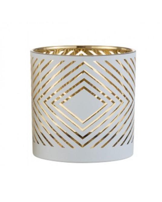 Porta Velas Pattern Gold