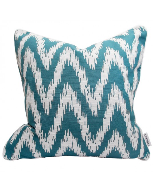 Pillow Ikat Zig Zag Emerald