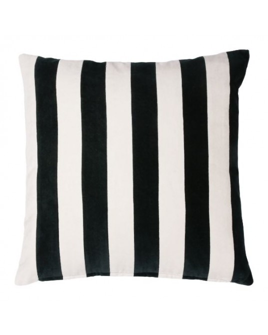 Pillow Velvet Stripes Black