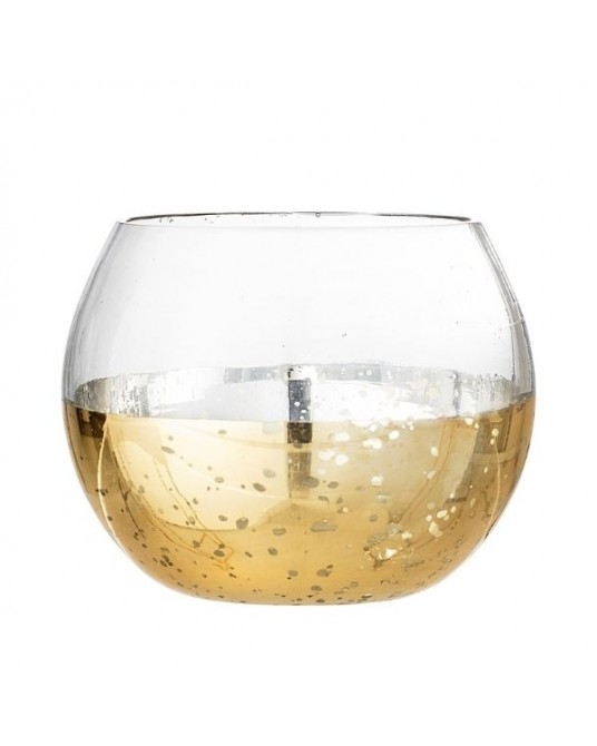 Gold Bubble Candle Holder