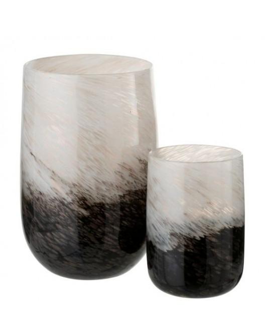 Vase Soft Lines Black