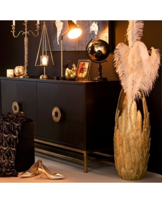 Jarra Gold Feathers 80 cm
