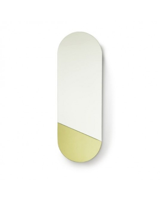 Espelho Oval Dourado