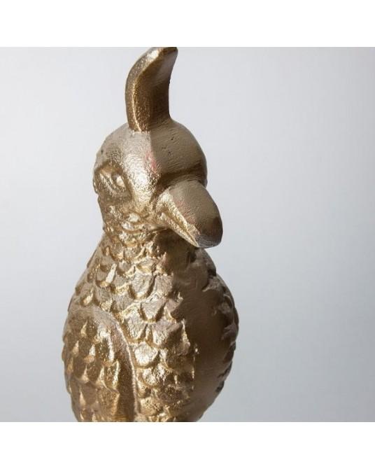 Pássaro Dourado Pedestal