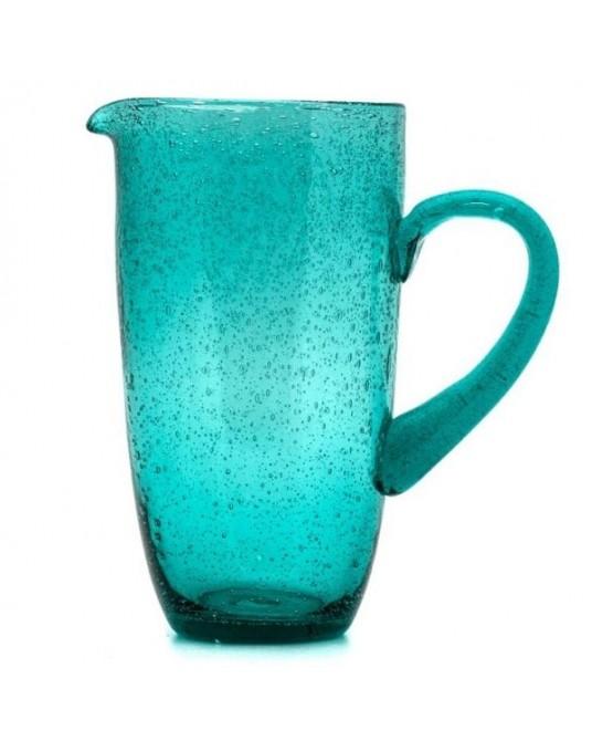 Jarro Azul Jade Vidro