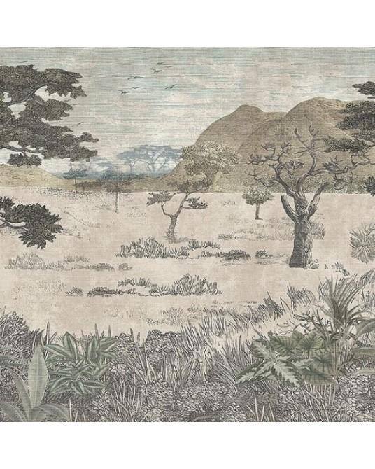 Mural Wallpaper Serengeti Savannah
