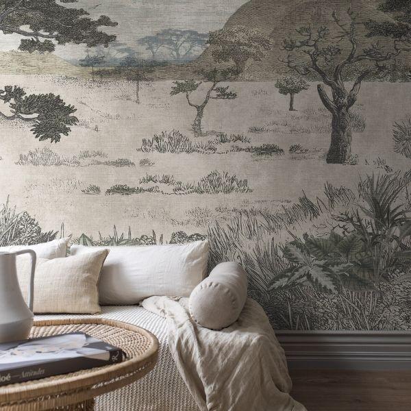 Painel Papel de Parede Serengeti Savannah