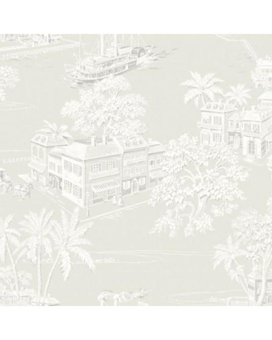 Wallpaper Charleston Toile
