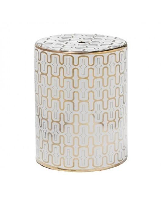 Ceramic Stool GoldAgeas