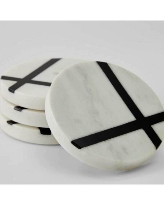 4 Imeris Marble Coasters