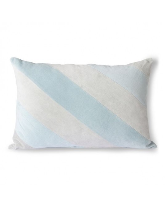 Pillow Stripes Blue Velvet