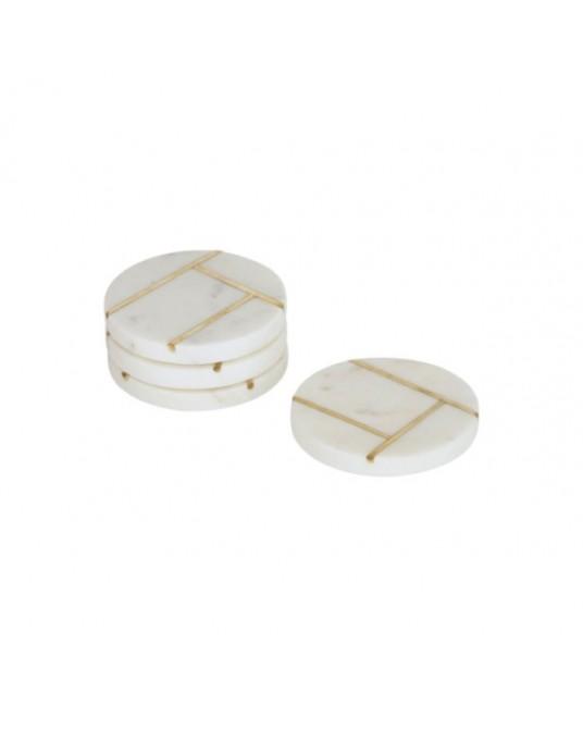 4  Tahis Marble Coasters