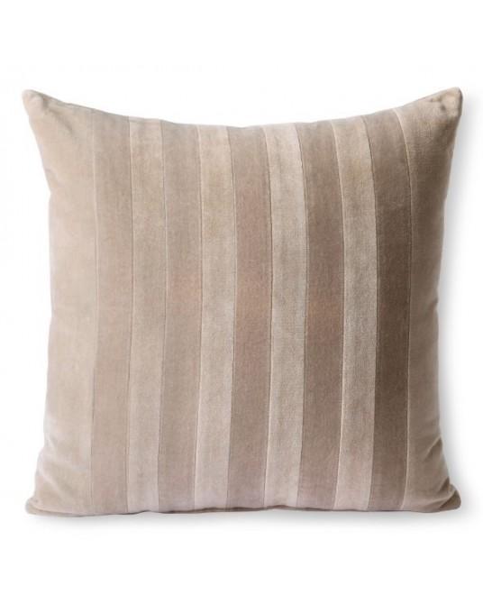 Pillow Stripes Bege Velvet