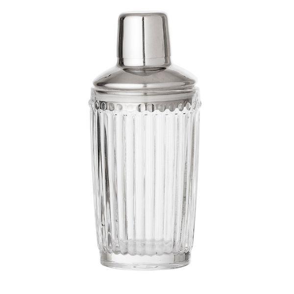 Shaker Silver Glass