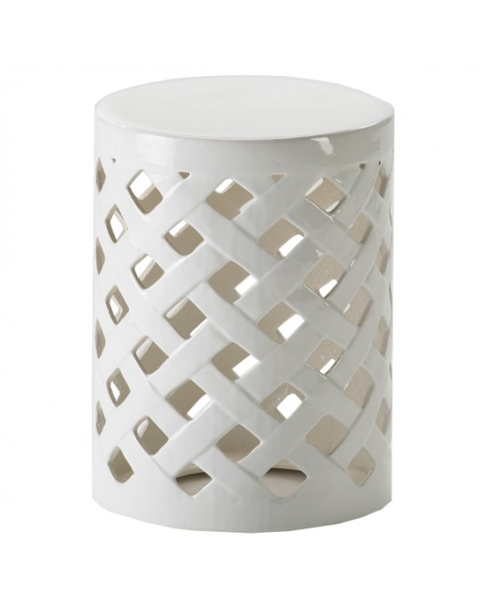 Tamborete White Basket