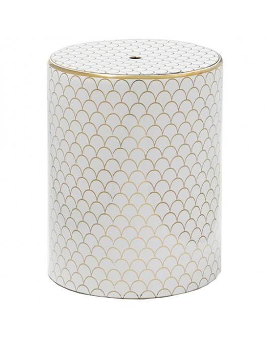 Ceramic Stool GoldScales
