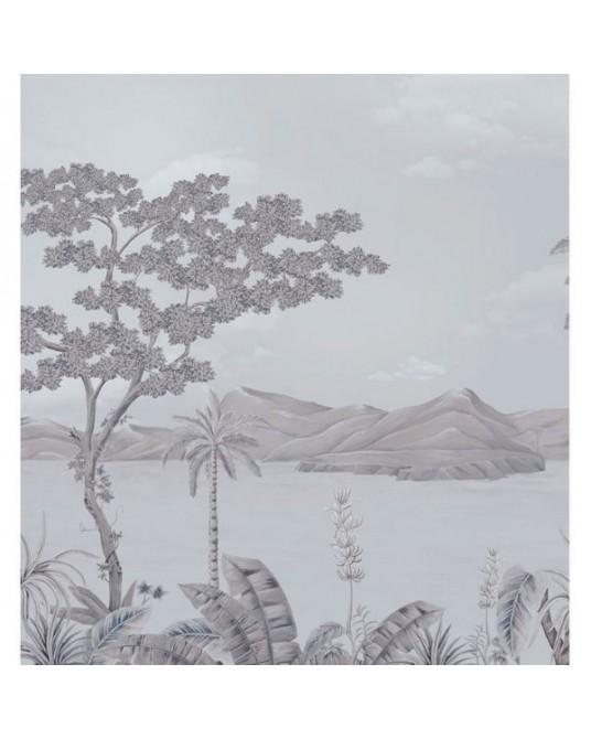 Painel Papel de Parede Floresta Grey