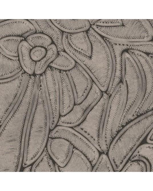 Papel de Parede Flore Onyx