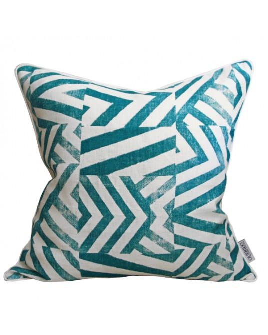 Pillow Emerald Patch