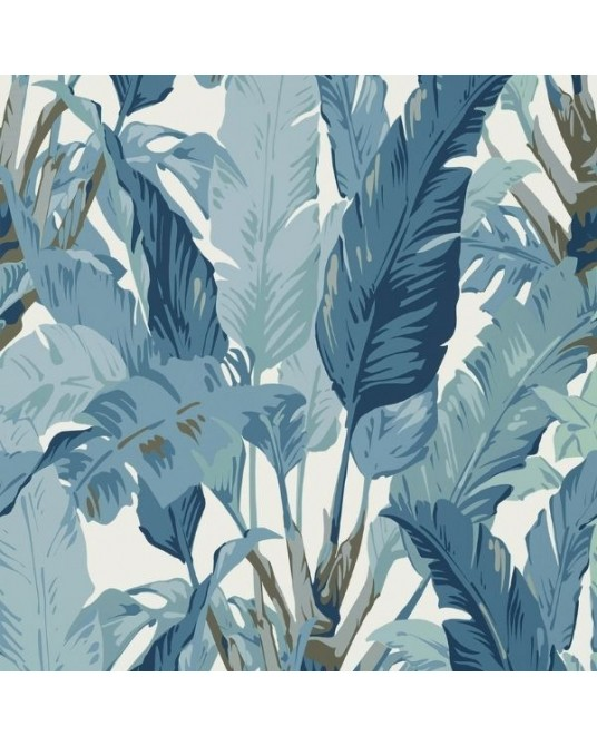 Papel de Parede Travelers Palm Spa Blue