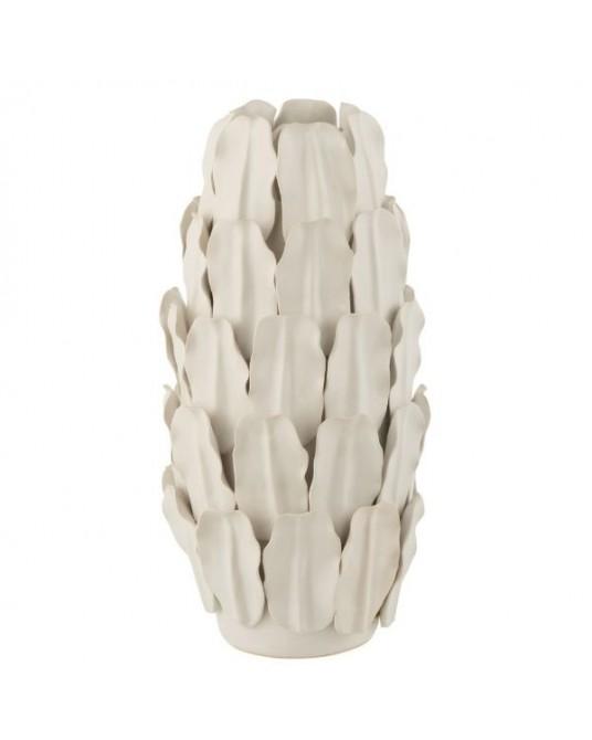 Vase Folhas Brancas